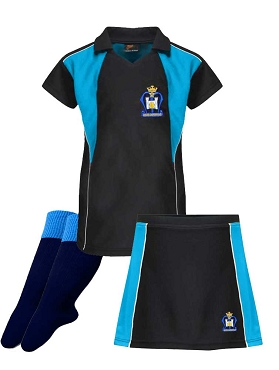 St Marys High School Girls Sports Full Kit - Top, Shorts and Socks - with free initials