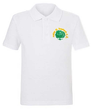 Astley St Stephens Primary School Unisex White Polo Shirt