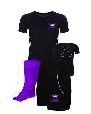Atherton Community  School Girls Sports Full Kit - Top, Shorts and Socks - with free initials