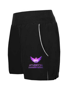 Atherton Community School Girls Sports Shorts - From £10.50 - with free initials