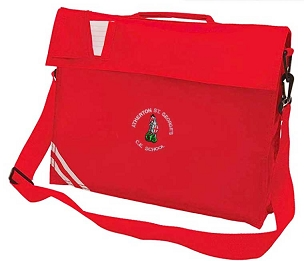 Atherton St Georges Large Red  Book Bag with Strap