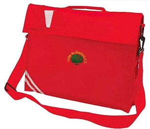 Astley St Stephens Primary School Red Large Book Bag with Strap