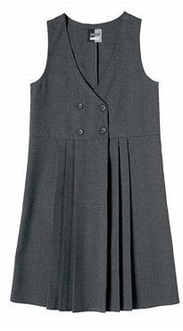 Four Button Front Grey Pinafore