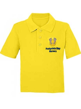 Footprints Day Nursery Unisex Yellow Polo Shirt