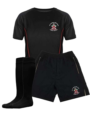Fred Longworth High School Boys Full Indoor Kit, Shorts, Tops and Socks - with free initials