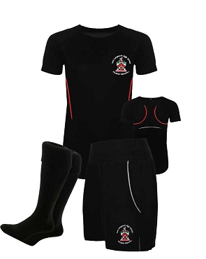 Fred Longworth High School Girls Full Indoor Kit, Shorts, Tops and Socks - with free initials