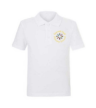 Garrett Hall School Unisex White Polo Shirt