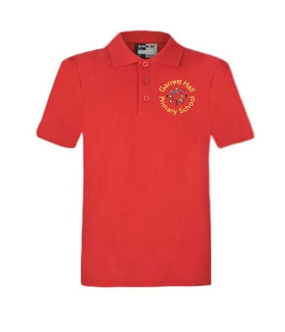 Garrett Hall School Unisex Red P.E. Polo Shirt