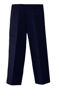 Boys Half Elasticated Pull up Navy Blue Trousers From £5.00