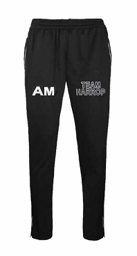 Harrop Fold Secondry School Black Jogging Bottoms - Team Harrop - with free initials