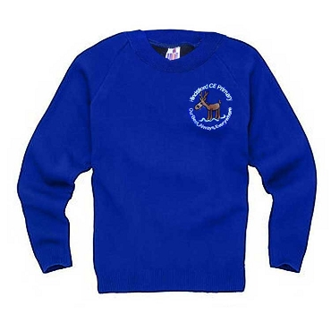 Hindsford C.E  Primary School Royal Blue Jumper