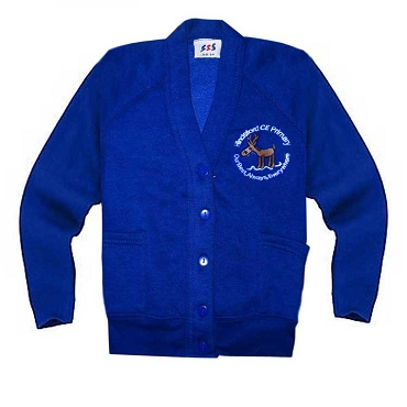 Hindsford C of E Primary School Royal Blue Cardigan