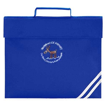 Hindsford C of E Primary School Blue Small Book Bag