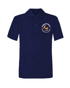 Hindsford C of E Primary School Blue Unisex Polo Shirt