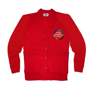 Little Dolphins Playgroup Red Cardigan