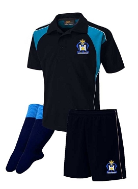 St Marys High School Boys Sports Full Kit - Top, Shorts and Socks - with free initials