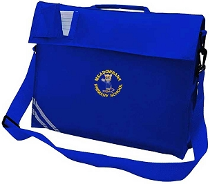 Meadowbank Primary School Large Blue Book Bag with Strap