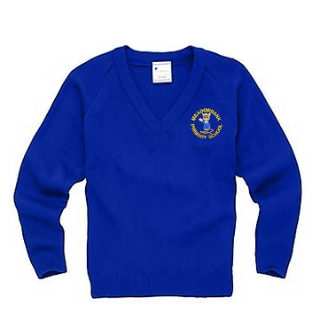 Meadowbank Primary School Blue Year 6 V Neck Jumper