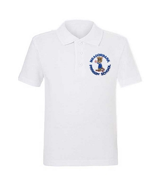 Meadowbank Primary School Unisex White Polo Shirt