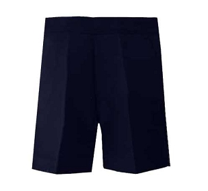Boys Half Elasticated Pull up Navy Blue  Shorts