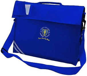 North Walkden Primary School Large Blue Book Bag with Strap
