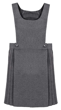 Half Pleated Grey Pinafore