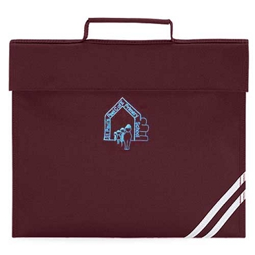 St Pauls Peel C of E Primary School Burgundy Small Book Bag