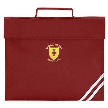 Sacred Heart R.C. Primary School Burgundy Small Book Bag