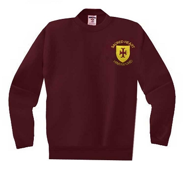 Sacred Heart Hindsford Burgundy School Jumper