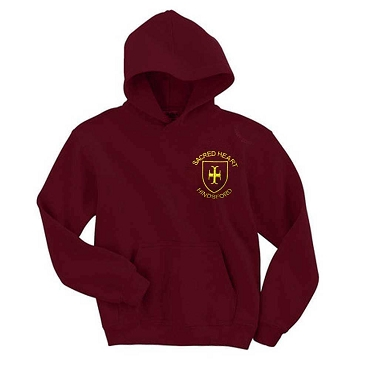 Sacred Heart Hindsford Burgundy P. E. Hoodie - with free initials