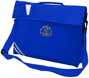 St Johns Mosley Common Large Blue Book Bag with Strap