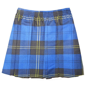 St Michaels Elasticated Waist Box Pleated Tartan Checked Skirt