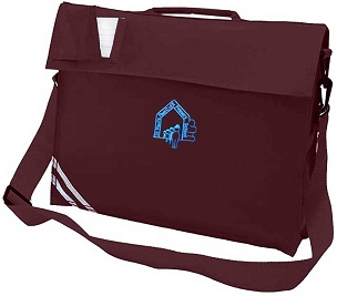 St Pauls Peels Large Burgundy Book Bag with Strap