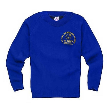 St Johns Mosely Common Royal Blue Jumper