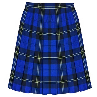 St Marys High School Box Pleated Tartan Checked Skirt  - From £17.50