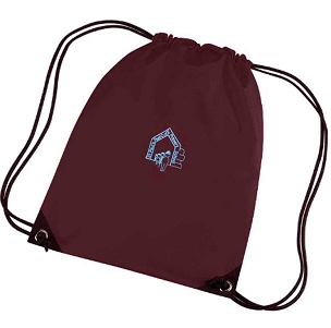 St Pauls Peel C of E Primary School Burgundy P.E. Bag