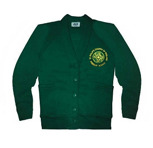 St Philips C.E. Primary School Green Cardigan