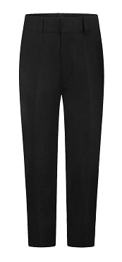 Sturdy Boy Fit Half Elasticated Boys Black School Trousers - From £13.00