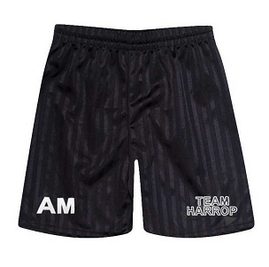 Harrop Fold High School Black Unisex P.E. Shorts - with free initials