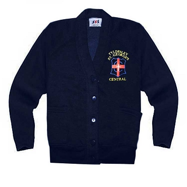 Tyldesley St Georges Navy Blue Cardigan