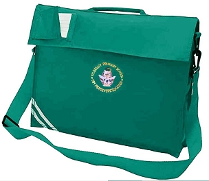 Tyldesley Primary School Large Green Book Bag with Strap