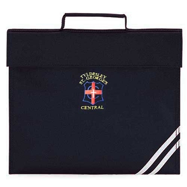 Tyldesley St Georges Primary School Navy Blue Small Book Bag