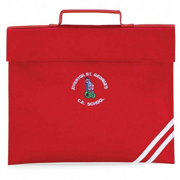 Atherton St Georges Small Red Book Bag