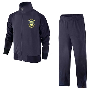 St Michaels Howe Bridge Full Navy Blue Tracksuit - with free initials