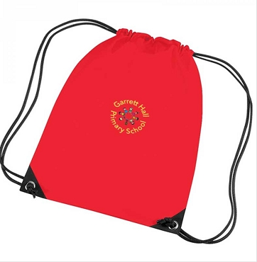 Garrett Hall School Red P.E. Bag