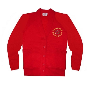 Garrett Hall Red School Cardigan