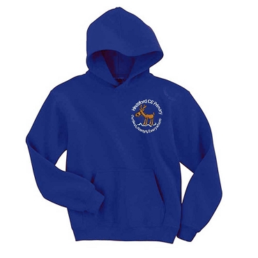 Hindsford C of E Primary P. E. Blue Hoodie - with free initials