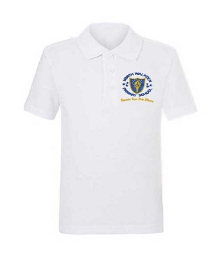 North Walkden Primary School White Unisex Polo Shirt
