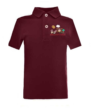Parklee Community Nursery Unisex Burgundy Polo Top