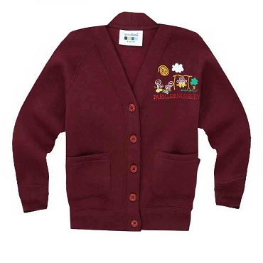 Parklee Community Nursery Burgundy Cardigan